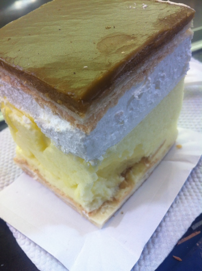 Creamy dessert from the Great Market Hall, Budapest.