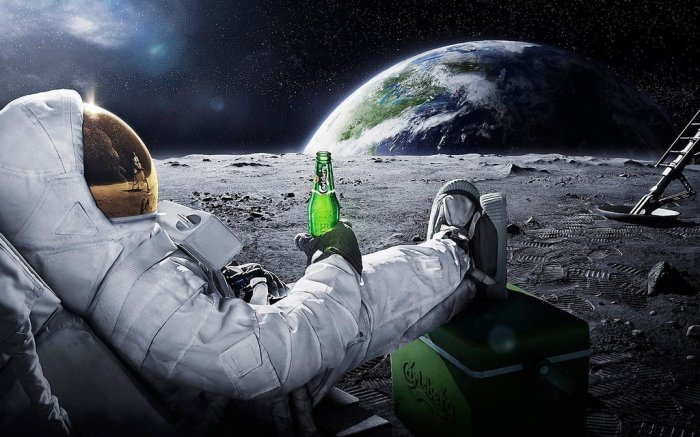 Drinking on the moon! © gawrifort