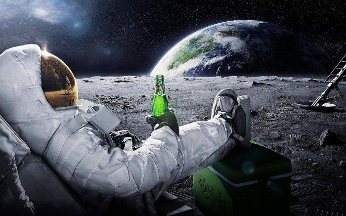 Drinking on the moon! © gawrifort