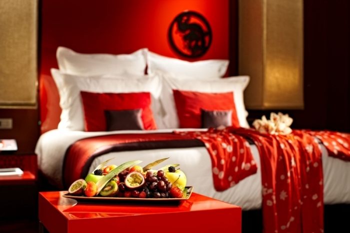 The tasty fruit and tangy colour tones of the Buddha-Bar Hotel.