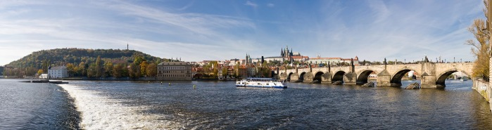 The Vltava as it flows under the Charles Bridge in Prague. © David Iliff.