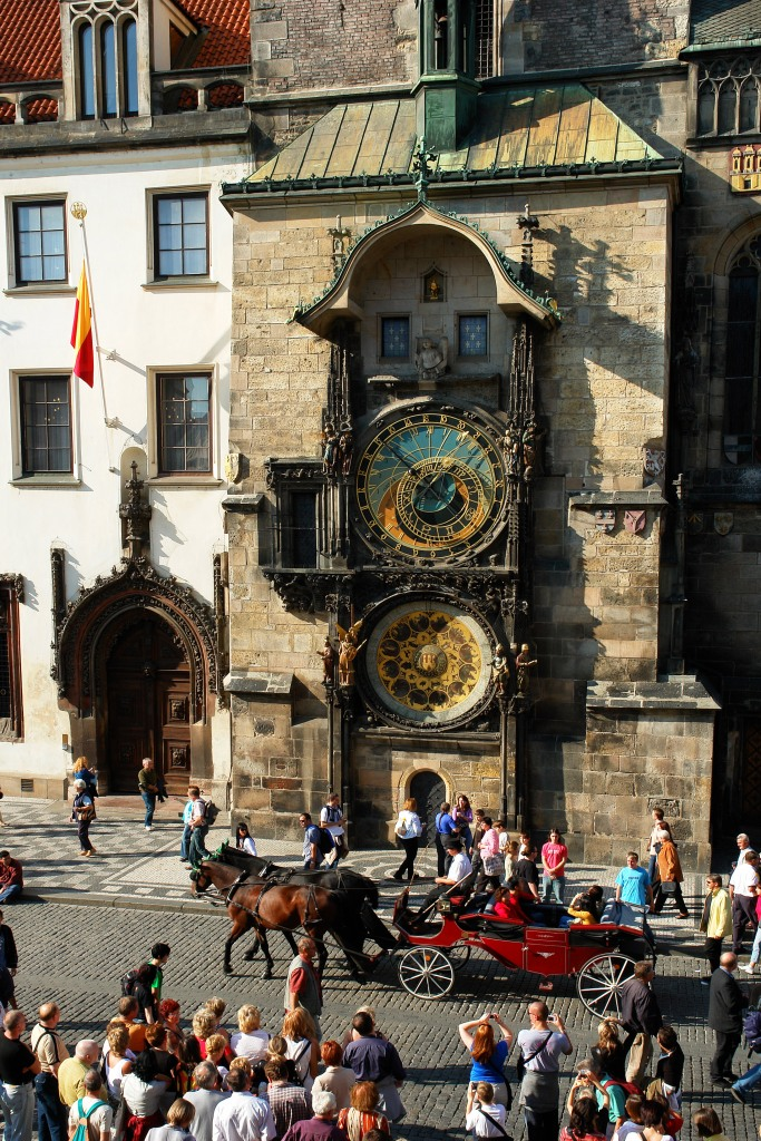 Just below the Astronomical Clock in Prague.