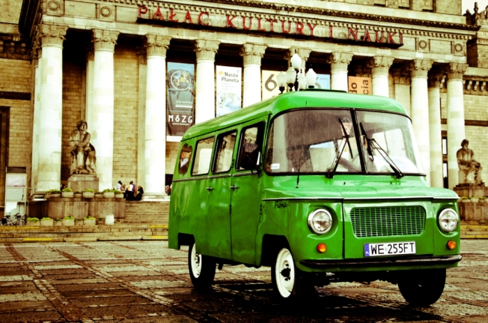 A genuine classic Nysa 1968 Polish van - Adventure Warsaw.