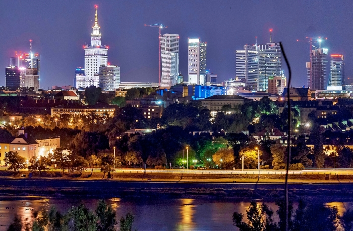 Warsaw by Night - Poland.