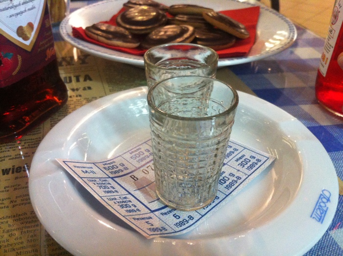 Communist vodka & Jaffa cakes at the People's Republic of Poland (PRL) Museum in Warsaw!