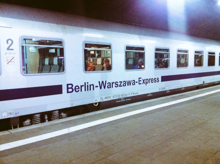 The Berlin Warsaw Express train in Poland.