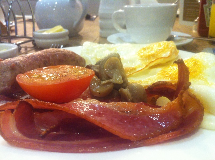 A full English breakfast in Bristol!