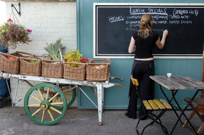 St. Nicholas Market Board. © Graham-Flack