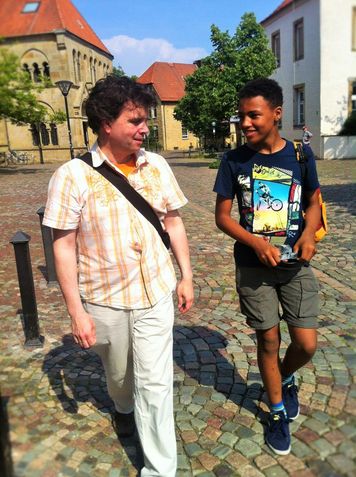 "My husband - ""The Music Producer"" and ""The Tall Young Gentleman"" in beautiful Osnabrück, Germany."