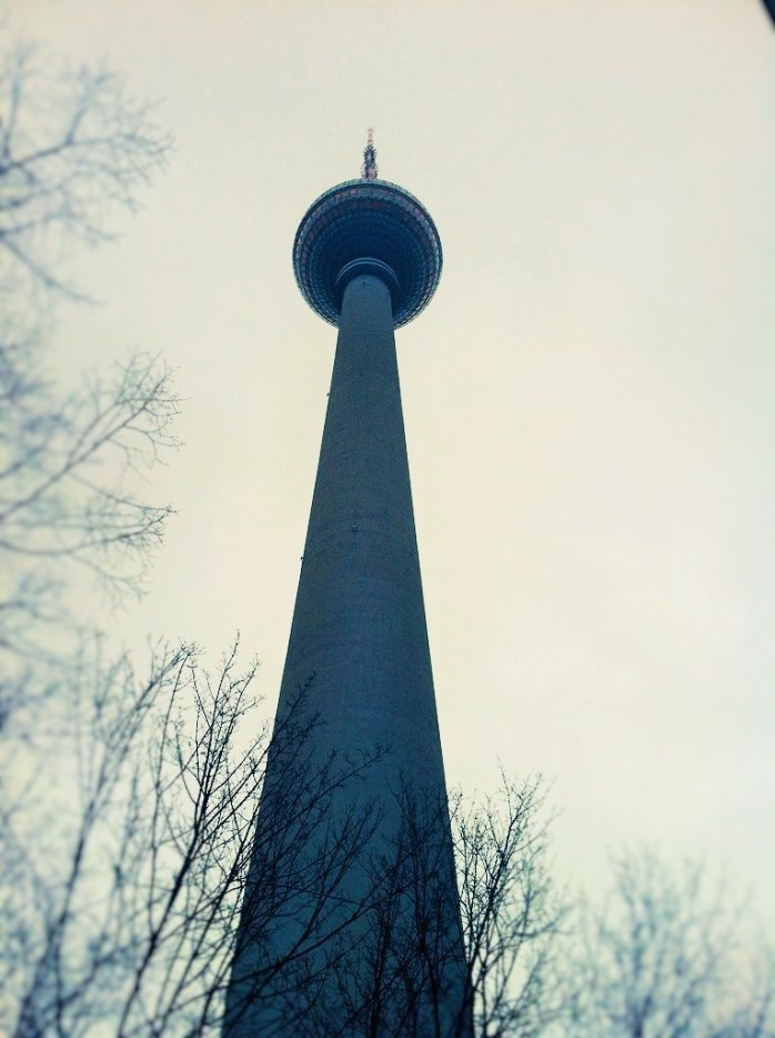 The TV Tower or Fernsehturm in Berlin.