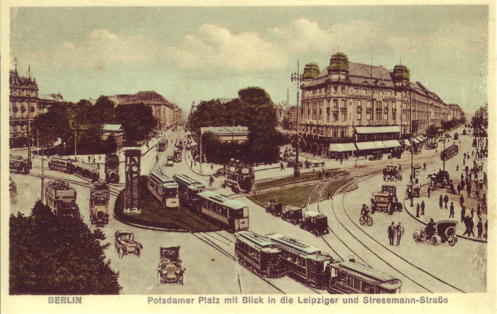 Potsdamer Platz around 1900 in Berlin.