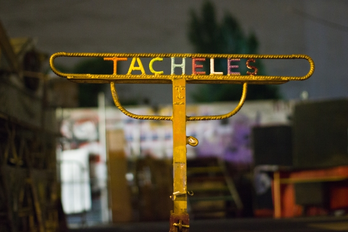 Tacheles Metal sign in grungy Berlin! ©Victorgrigas