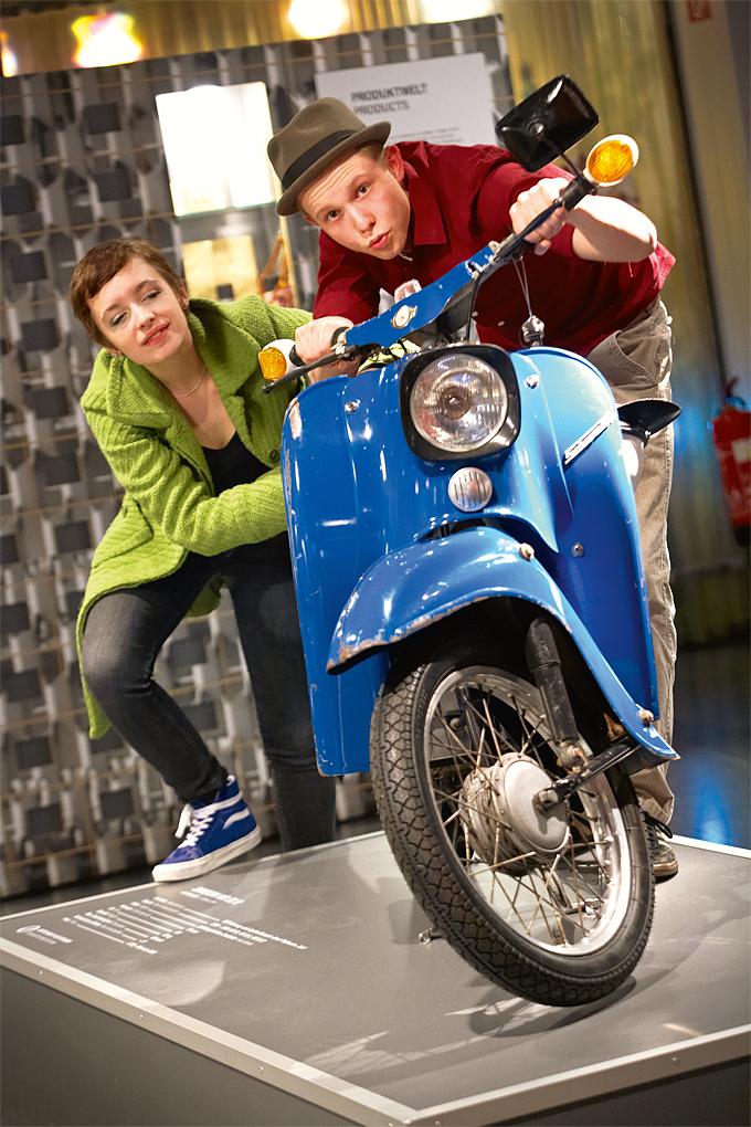 "Die ""Schwalbe"" or East German moped at the DDR Museum © DDR Museum, Berlin 2015"