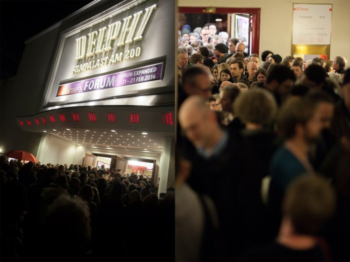 Wading throught the crowd for the Berlinale at the Delphi Filmpalast. © Berlinale