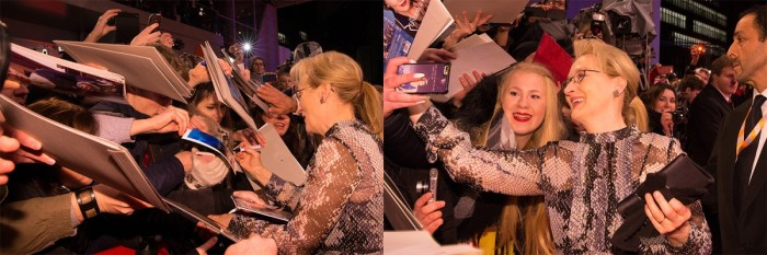 Meryl Streep & the Opening Gala. Everyone went crazy! © Berlinale