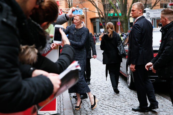 The lovely Tilda Swinton in Berlin. © Berlinale