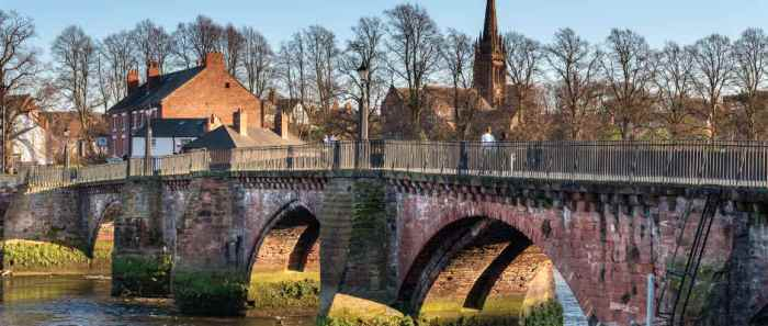 A part of the old Bridge and Wall in Chester!