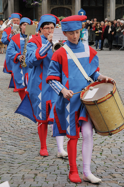 Hanswijk procession Musicians, Mechelen. in Belgium. © Jan Smets.