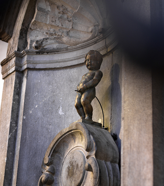 The Manneken Pis Fountain in Brussels! ©VisitFlanders.