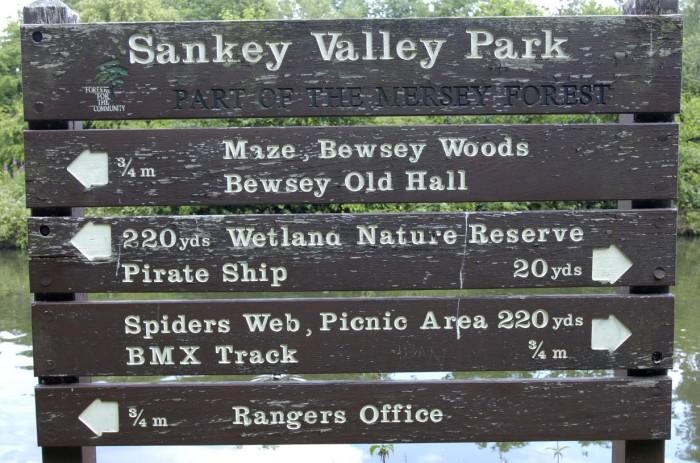 Sankey Valley Park in Cheshire.