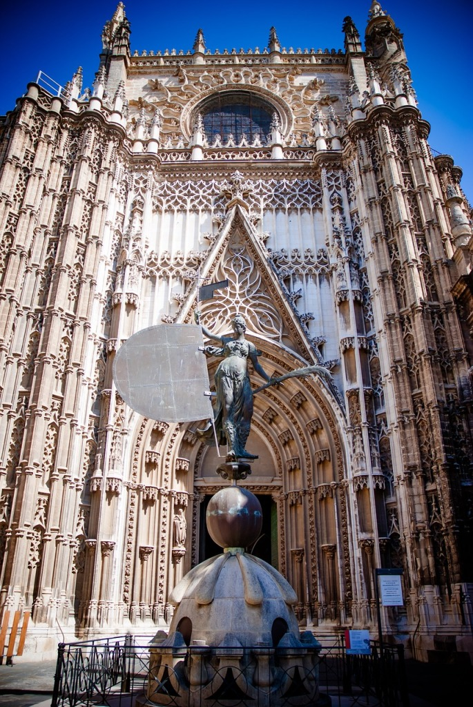 At the Cathedral in Seville.