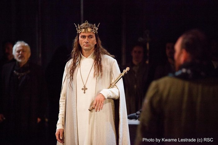 The gorgeous David Tennant as William Shakespeare's Richard II.
