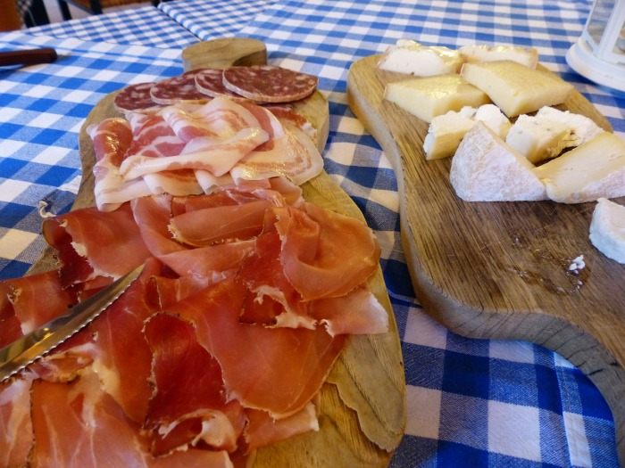 Spanish cold cuts and cheese. Plenty for breakfast!