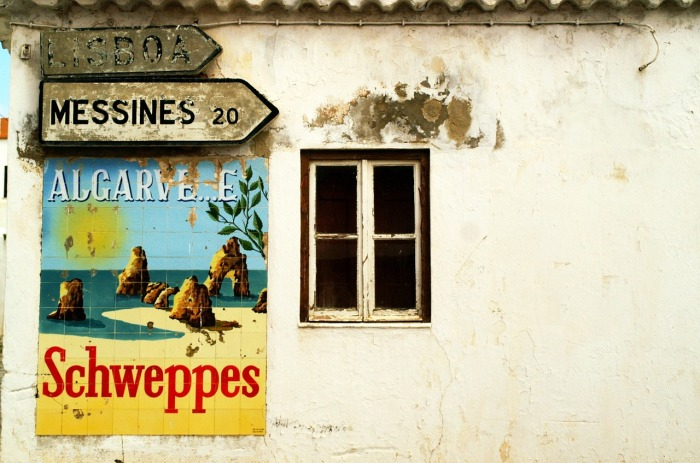 This is the way to the Algarve. In Portugal!