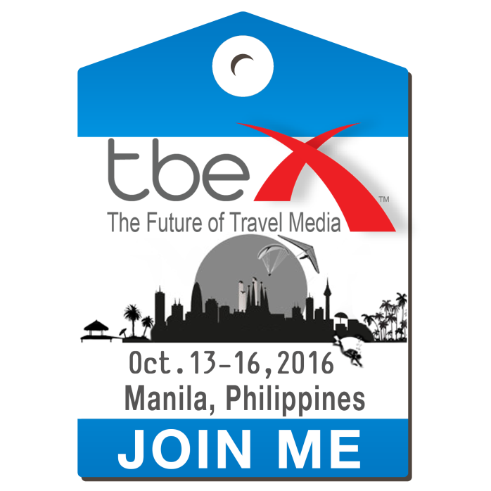Astonishing news! I'm going to the TBEX ASIA Conference in the Philippines!