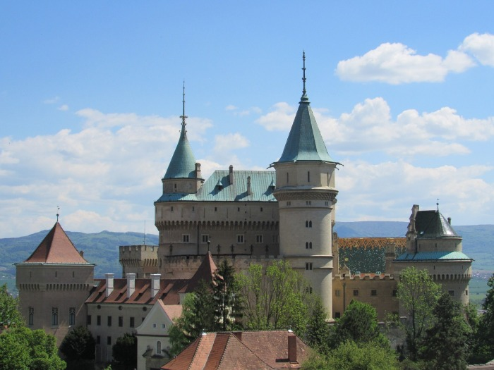 Bonjnice Castle in Slovakia, otherwise known as the Slovak Republic!