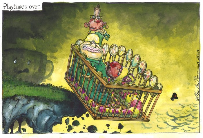 The next Prime Minister is likely to be Boris Johnson. Illustration @Martin Rowson