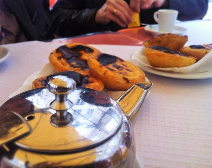 Custard Tarts from Pastel de Belém, and a pot of tea, were the absolute best!