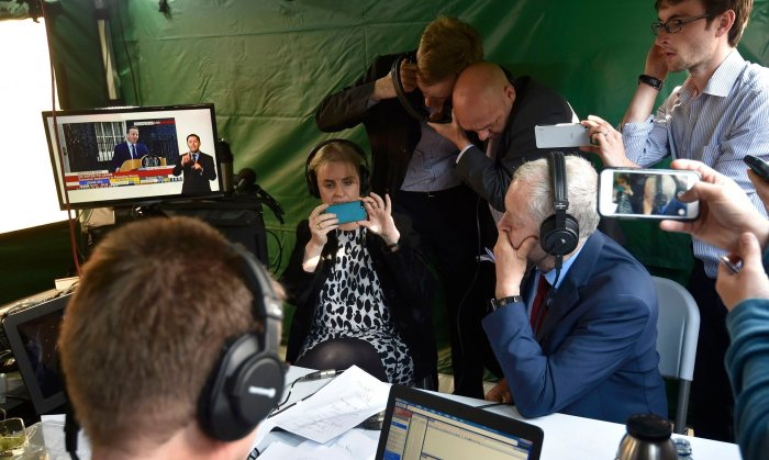 But you know, I'm a professional, as is Jeremy Corbyn! @Toby Melville / Reuters