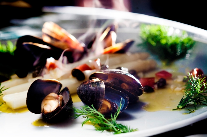 Seafood such as cap-horn mussels!