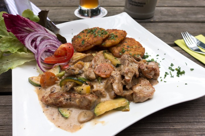 Geschnetzeltes - veal with mushrooms served with rösti! Why you should visit Switzerland, and eat cheese!