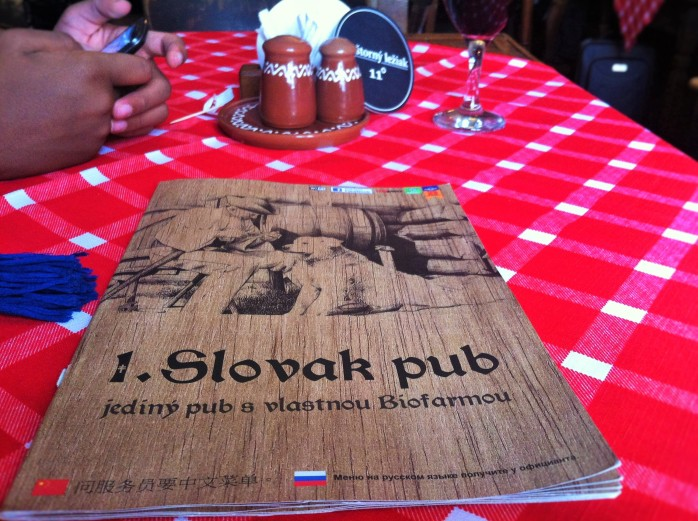 At the Slovak Pub in Bratislava - 9 traditional East European things to eat in Slovakia!