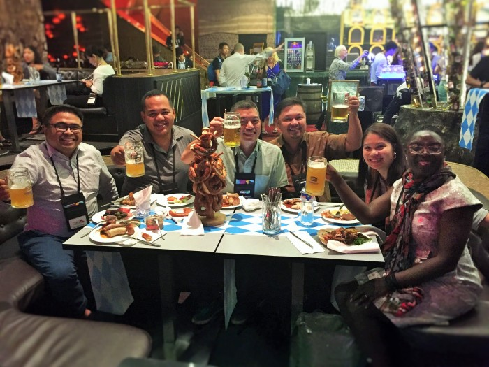 At the #TBEX Asia Pacfic Oktoberfest Farewell Party, with local Filipinos!