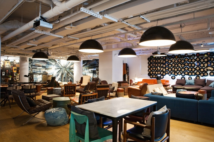 This is where the cool kids hang out in the Music Lounge of the amba Taipei Ximending Hotel!