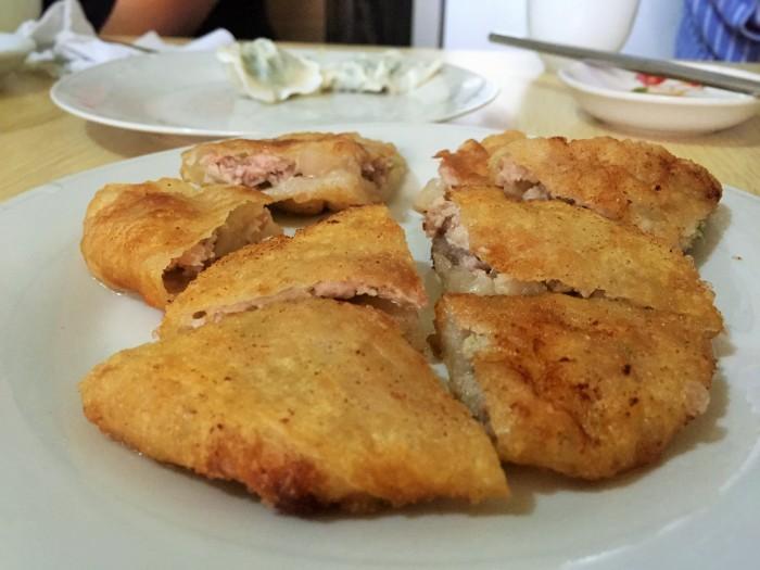 A thick layer of Filippino pork schnitzel!