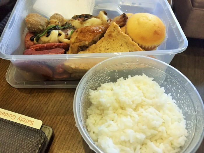 The Asian boxed take-away breakfast!