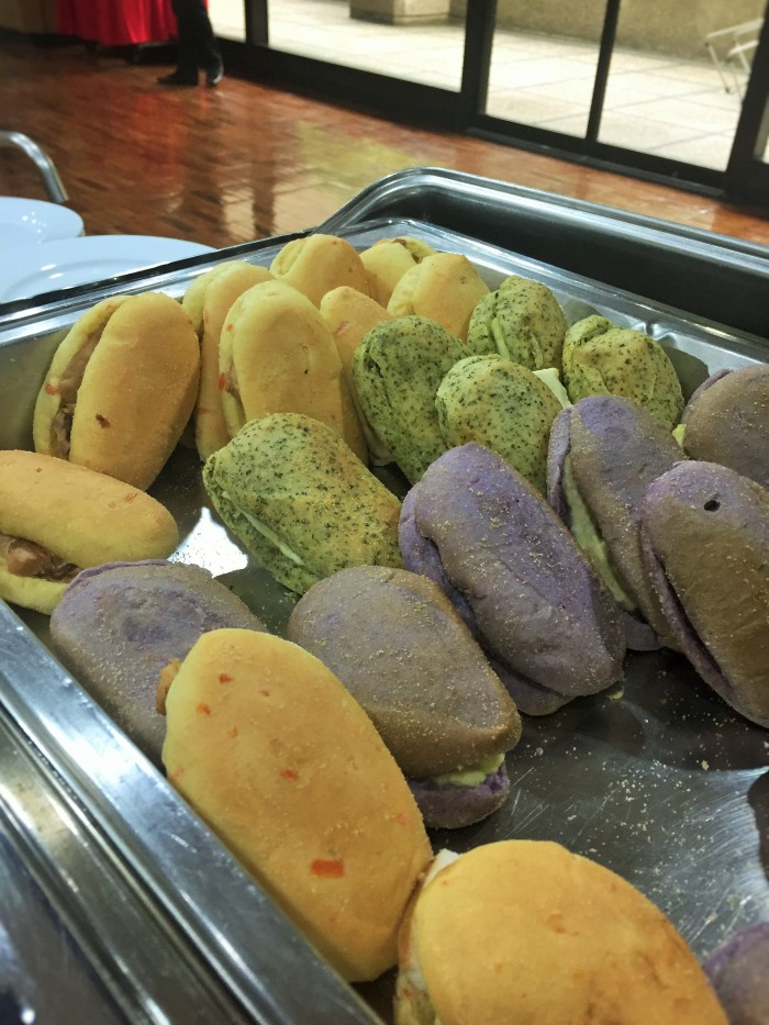 Colourful Filipino buns at #TBEX in Manila!