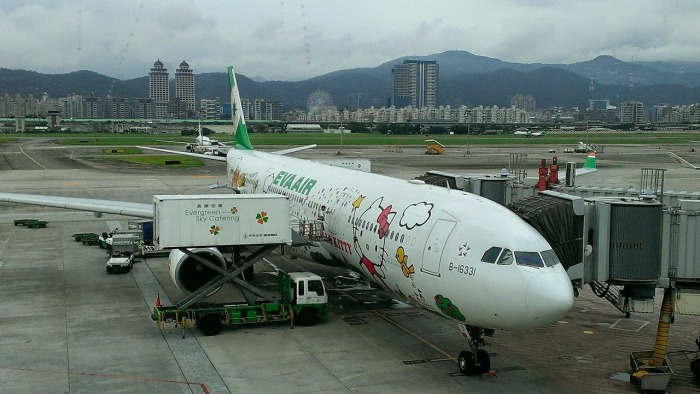 I flew with EVA Air!