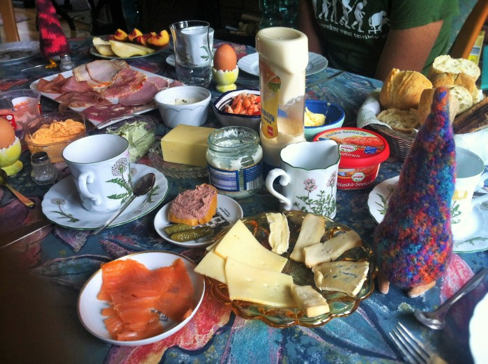 A most delicious breakfast spread you can expect, in a typical German home!