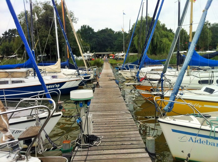 On the pier in Mardorf.