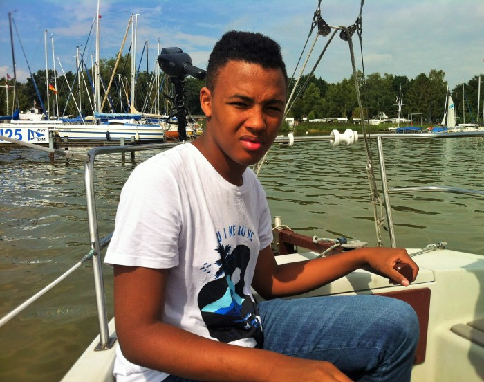 """""""The Tall Young Gentleman"""" taking to the sea in Mardorf."""