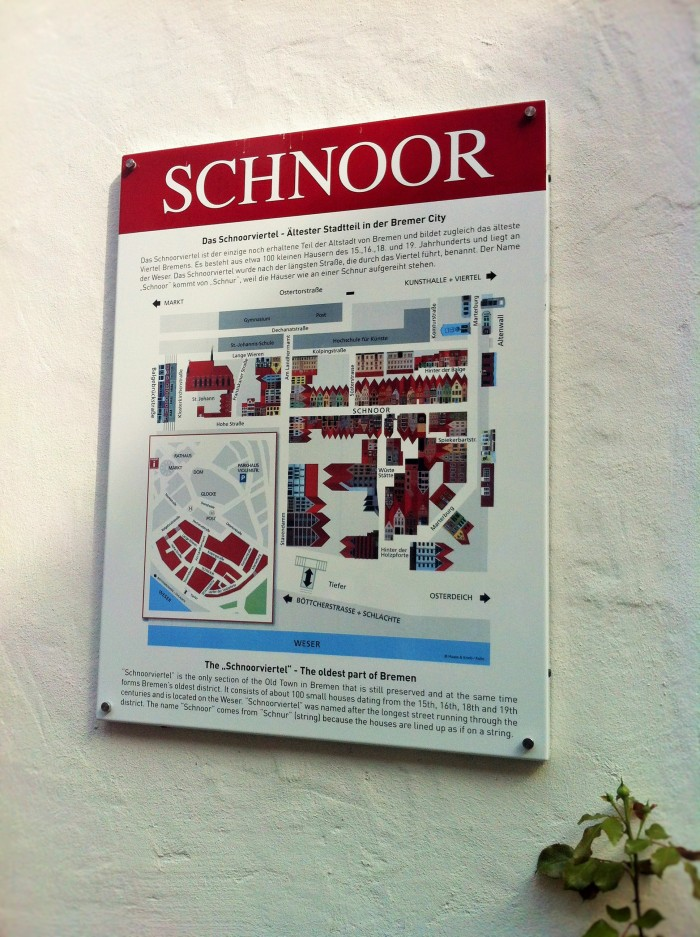One of the highlights of Bremen is Schnoor!
