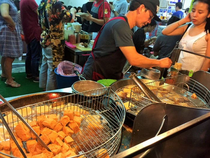 Ha! Ha! Stinky tofu in Taiwan!!