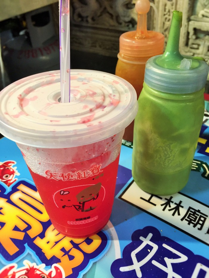 I had this really nice fresh cherry drink, but due to brain freeze, I had to throw it away!