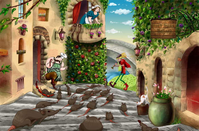 The Pied Piper of Hamelin ©anastaciarts
