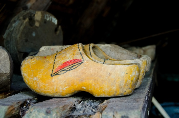 Clogs made in Holland.